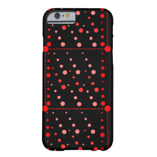 Red circles barely there iPhone 6 case