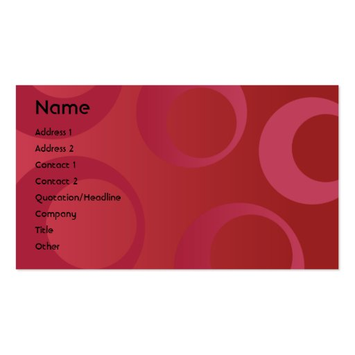 Red Circles - Business Business Cards