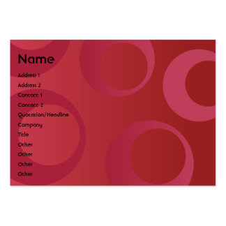 Red Circles - Chubby Business Card Template