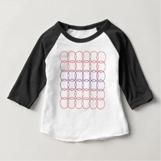 RED CIRCLES DESIGN ON WHITE BABY T-Shirt