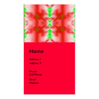 red circles fractal business cards