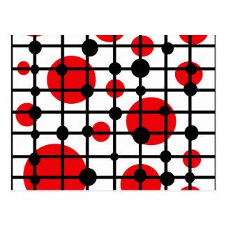 Red circles postcard