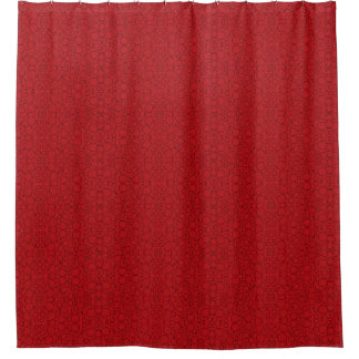red circles shower curtain