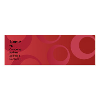 Red Circles - Skinny Pack Of Skinny Business Cards