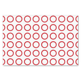 Red Circles Tissue Paper