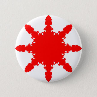 Red Circular Print 6 Cm Round Badge