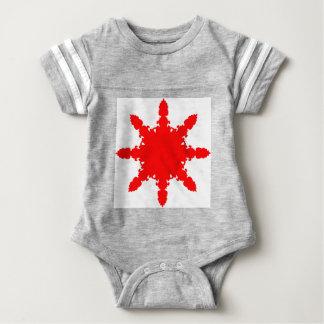Red Circular Print Baby Bodysuit