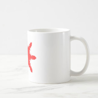 Red Circular Print Coffee Mug