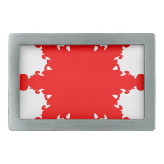 Red Circular Print Rectangular Belt Buckles