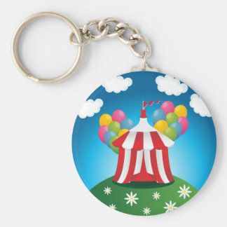 Red Circus Tent Keychain