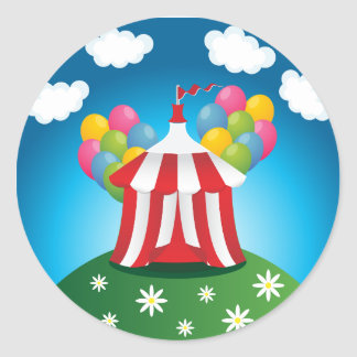 Red Circus Tent Stickers