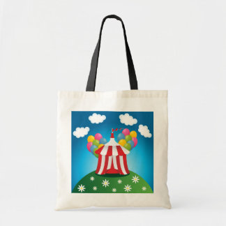 Red Circus Tent Tote Bag