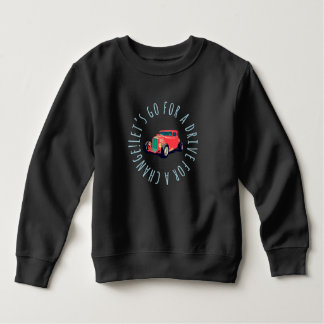 Red classic car kids sweat shirts lead classic car