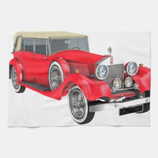 Red Classic Car Tea Towel