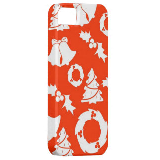 Red Classic Christmas Decorations Pattern Holiday Barely There iPhone 5 Case