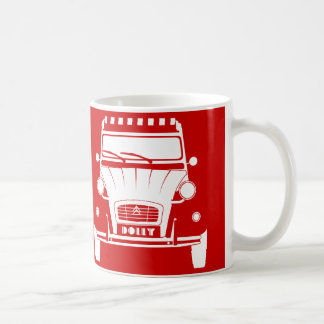 Red Classic Citroen 2CV Deux Chevaux Dolly Mug