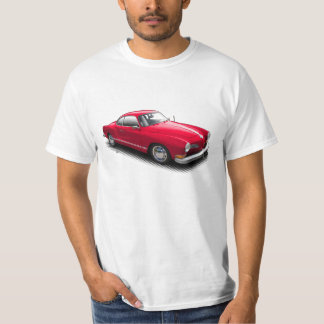 Red Classic German Ghia on White T-Shirt