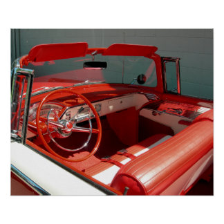 Red Classic Vintage Car Poster