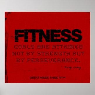 Red Cloth Black Thread Fitness Motivation Poster