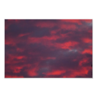 Red Cloud Sunset, Ohio Poster