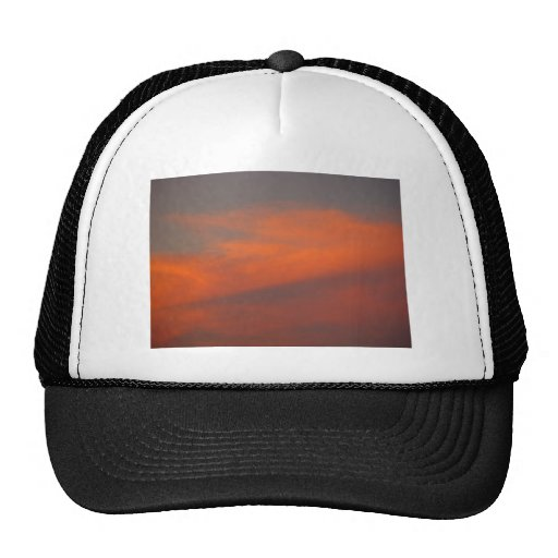 Red Clouds At Night On Kinross In Western Australi Mesh Hats