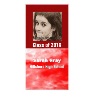 Red Clouds Graduation Announcement Photo Insert Photo Cards