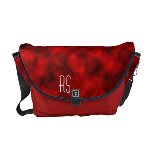Red Clouds monogrammed Messenger Bags
