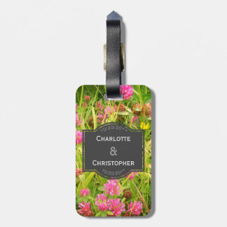 Red Clover And Buttercup Honeymoon Case Tag
