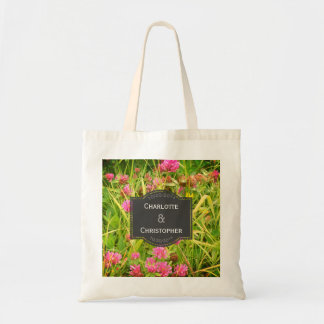 Red Clover And Buttercup Tote for Guests atWedding
