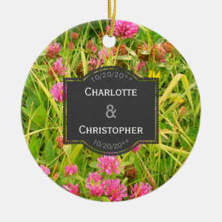 Red Clover And Buttercup Wedding Ornament