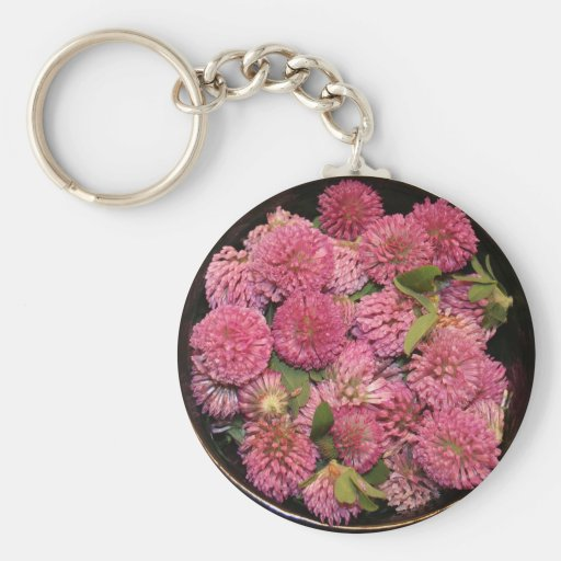 Red Clover Blossoms Keychain