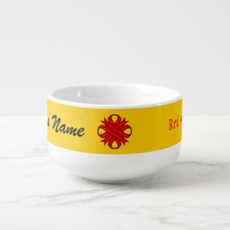 Red Clover Ribbon by Kenneth Yoncich Soup Mug