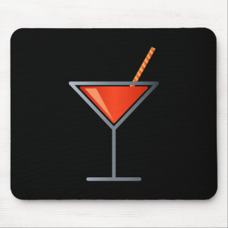 Red Cocktail Martini Glass Mouse Pad