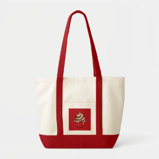 Red Coffee Cupcake red Bag