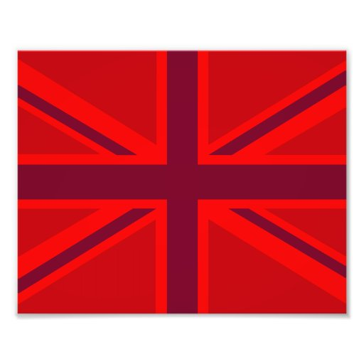 Red Color Background British Union Jack Customize Photo