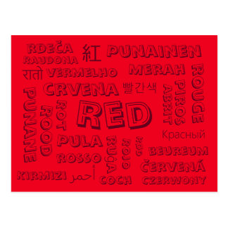 Red - Color Languages on Postcards