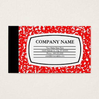 red composition book