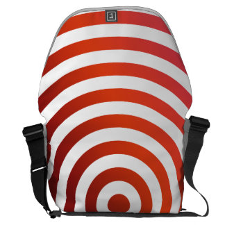 Red concentric circles courier bag
