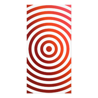 Red concentric circles photo card template