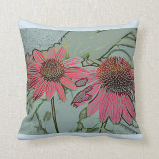 Red Coneflower Cushion