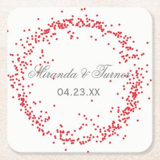 Red Confetti - Custom Coaster