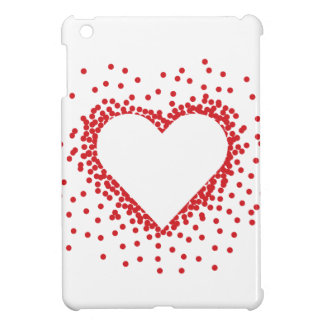 Red Confetti Heart iPad Mini Case