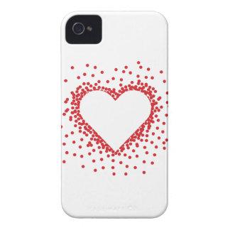 Red Confetti Heart iPhone 4 Case