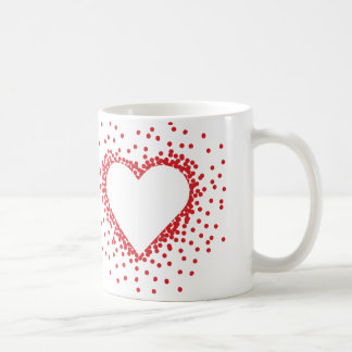 Red Confetti Heart Mug