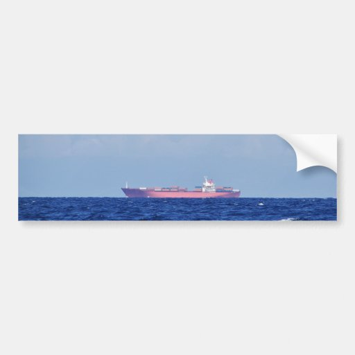 Red Container Ship Bumper Stickers