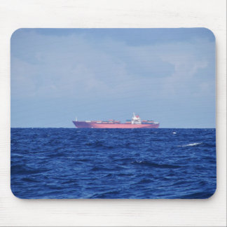 Red Container Ship Mouse Pad