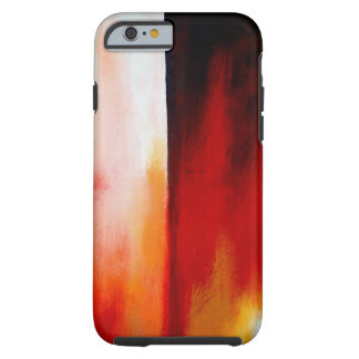 Red Contemporary Modern Abstract Artwork Tough iPhone 6 Case