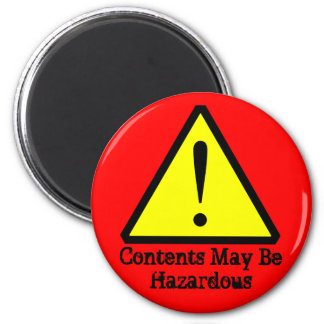 Red Contents May Be Hazardous Customizable Magnet