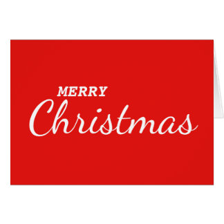 Red Cool & Simple Pop Art Merry Christmas Card