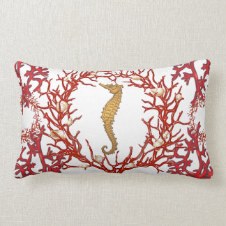 Red Coral American MoJo Pillow Throw Cushion
